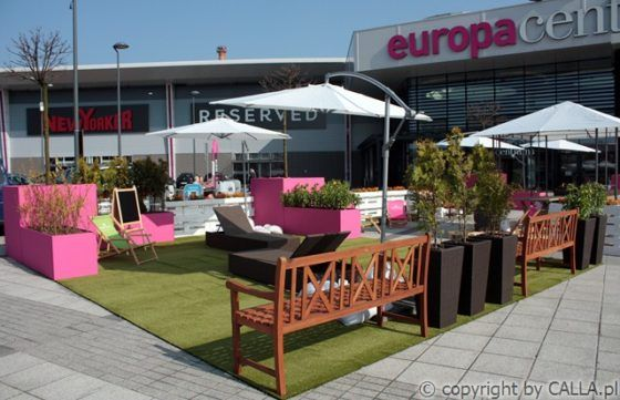 Urban architecture, furniture, play and relax zones