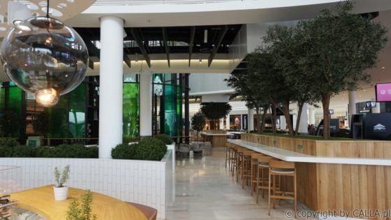 aranżacja zielenią sztuczną oraz dostawa sztucznych drzew na naturalnych pniach, Galeria Posnania